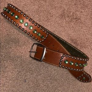 B Low The Belt Small EUC Leather Embellished NICE